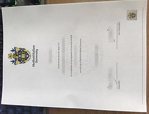 Sheffield Hallam University degree, Sheffield Hallam University certificate, Sheffield Hallam University diploma, 谢菲尔德哈勒姆大学毕业证,