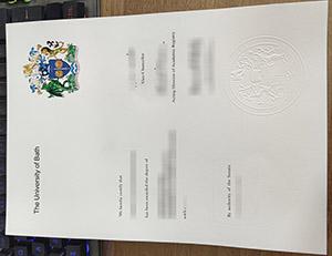 University of Bath diploma, University of Bath certificate, University of Bath degree, 巴斯大学文凭,