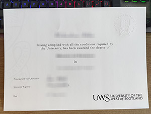 University of the West of Scotland degree, University of the West of Scotland diploma, fake UWS certificate, 西苏格兰大学毕业证,