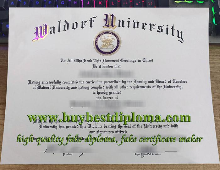 Waldorf University diploma, Waldorf University degree, Waldorf University certificate, 华尔道夫学院文凭,