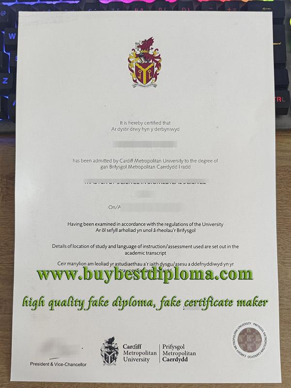 Cardiff Metropolitan University degree, Prifysgol Metropolitan Caerdydd degree, fake CMU diploma, 卡迪夫都会大学毕业证,