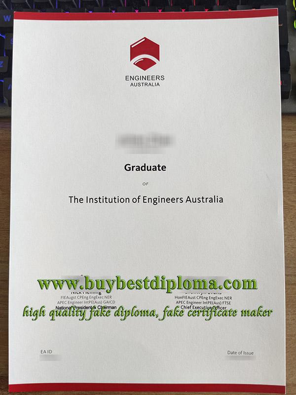 Engineers Australia certificate, Engineers Australia graduate certificate, fake engineer certificate, 澳洲工程师证书,