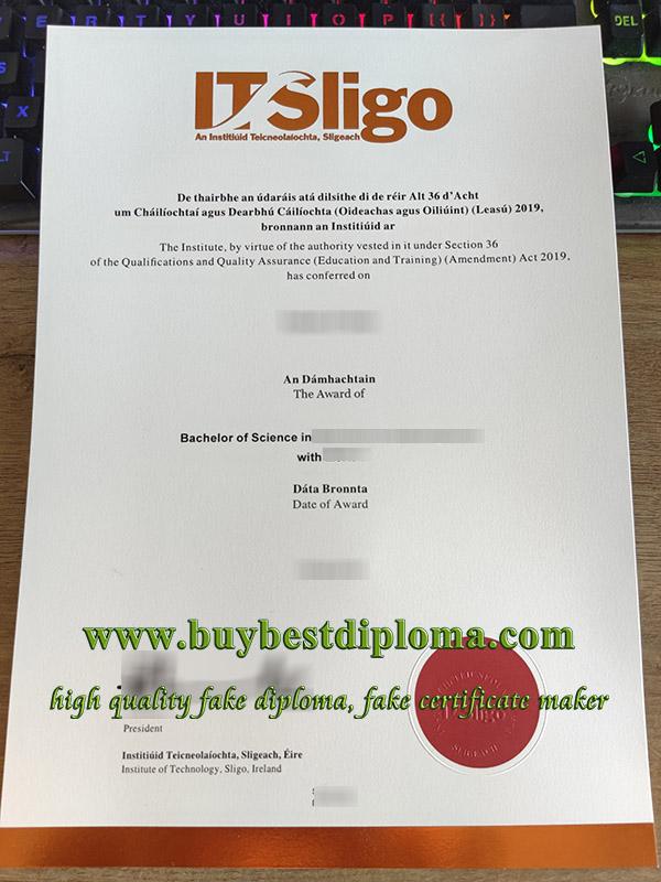 Institute of Technology Sligo degree, Institute of Technology Sligo diploma, fake IT Sligo certificate, 斯莱戈理工学院文凭,