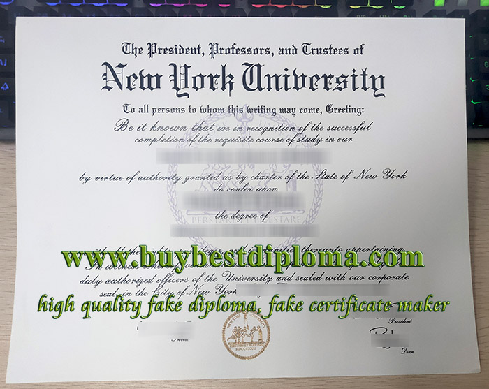 New York University degree, New York University diploma, fake NYU certificate, 纽约大学毕业证,