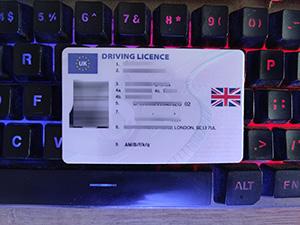 UK driving licence, UK driver licence, fake UK DL card, 高仿英国驾照,