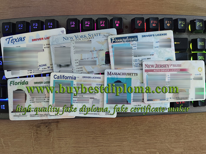 US state driver license, USA driving license, California driver license, 高仿美国驾照,