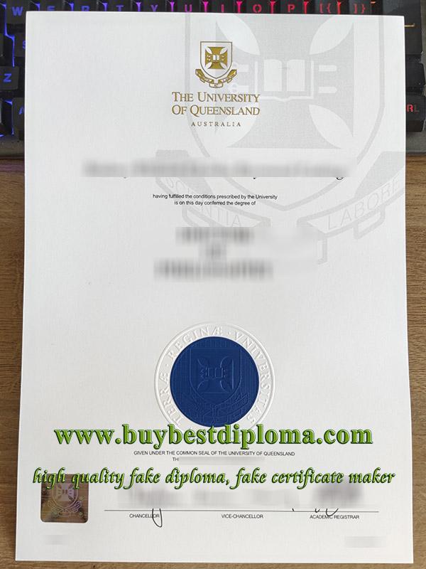 University of Queensland degree, fake University of Queensland diploma, University of Queensland certificate, 昆士兰大学毕业证,