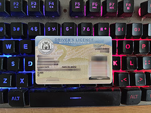 Australia Driver licence, Western Australia driver's licence, fake Australian driving licence, 高仿澳大利亚驾照,