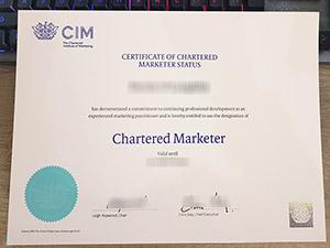 CIM Chartered Marketer certificate, Chartered Institute of Marketing certificate, fake CIM certificate, 英国特许营销协会证书,