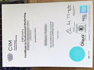 CIM certificate, Chartered Institute of Marketing certificate, CIM level 4 certificate, 英国特许营销协会证书
