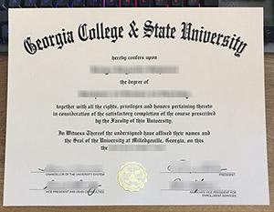 Georgia College & State University diploma, Georgia College & State University certificate, fake Georgia College degree,