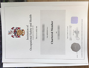 Institution of Occupational Safety and Health certificate, IOSH Chartered Member certificate, fake IOSH certificate,