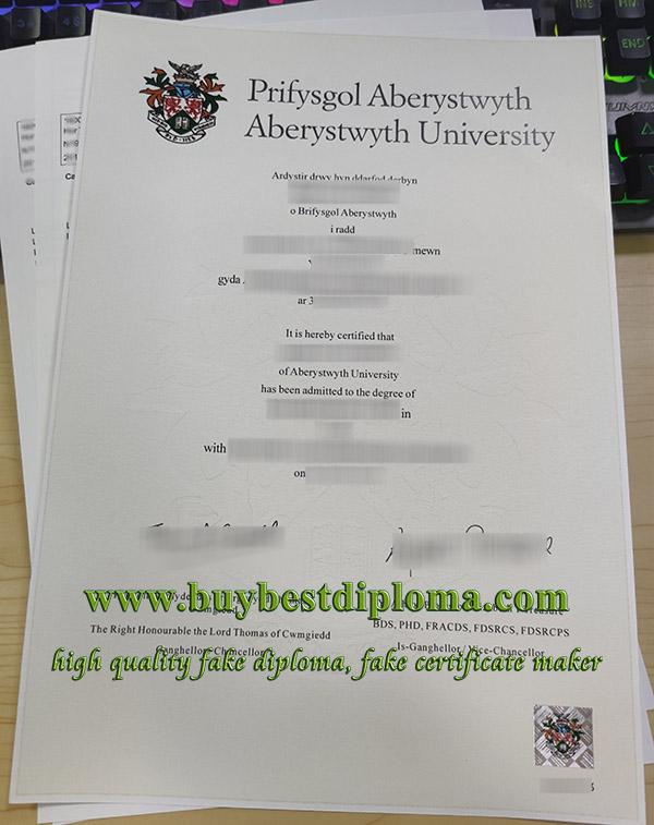 Aberystwyth University degree, Aberystwyth University transcript, Aberystwyth University certificate,