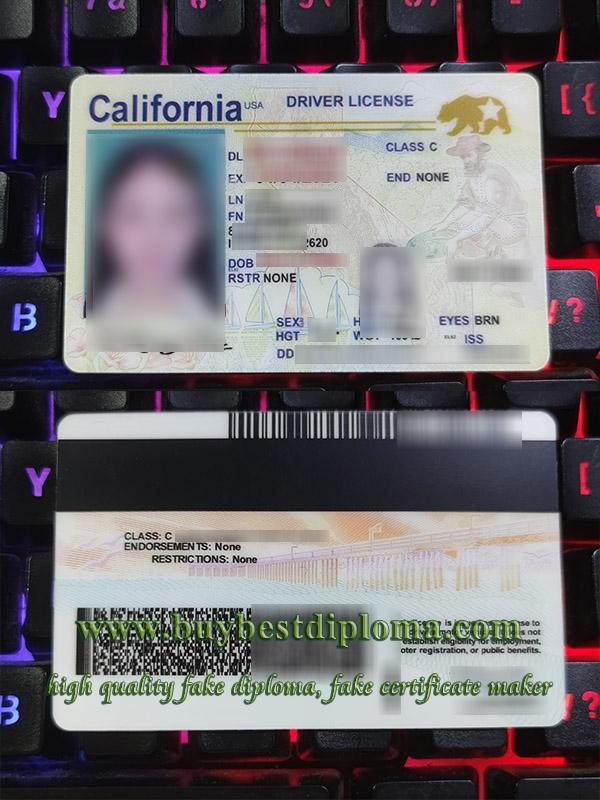 California driver license, California driver licence, fake California driving licence, fake US driver license,