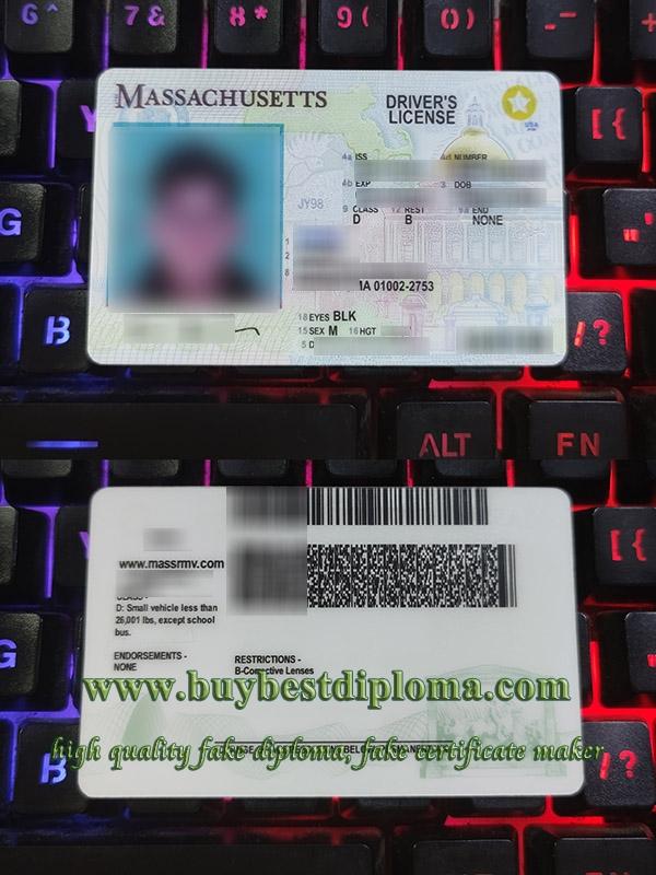 Massachusetts driver's license, Massachusetts driver license, Massachusetts driving license, fake United States driver license,