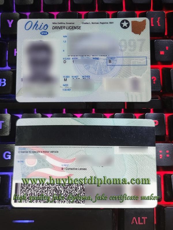 Ohio driver license, Ohio driving card, Ohio driving license, American driver license,