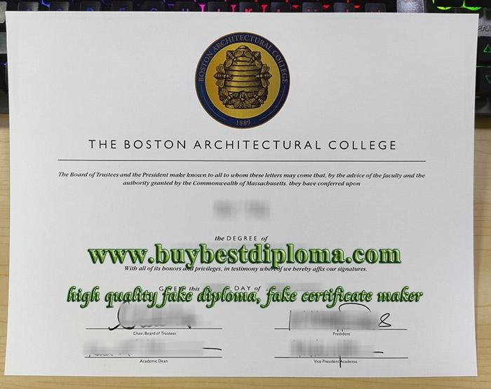 Boston Architectural College diploma, Boston Architectural College degree, fake Boston Architectural College certificate,