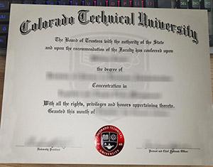 Colorado Technical University diploma, Colorado Technical University degree, fake CTU certificate,