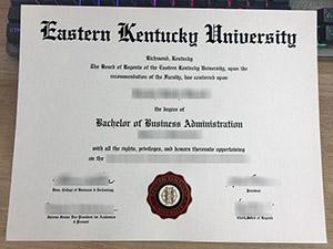 Eastern Kentucky University diploma, Eastern Kentucky University degree, fake EKU diploma,