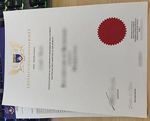 Edith Cowan University degree, Edith Cowan University certificate, fake ECU diploma, Edith Cowan University transcript,