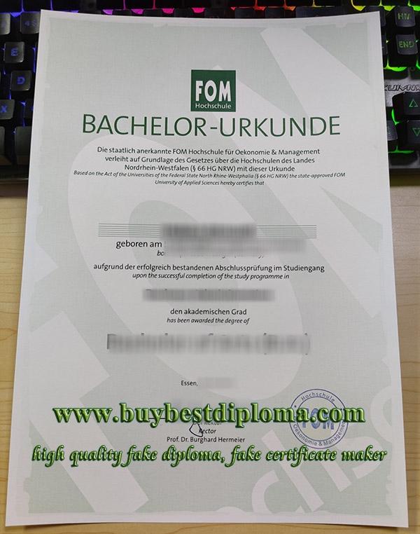 FOM Hochschule degree, fake FOM diploma, FOM Hochschule urkunde,
