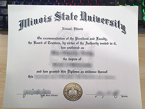 Illinois State University diploma, Illinois State University degree, fake Illinois State University certificate, 伊利诺伊州立大学证书,
