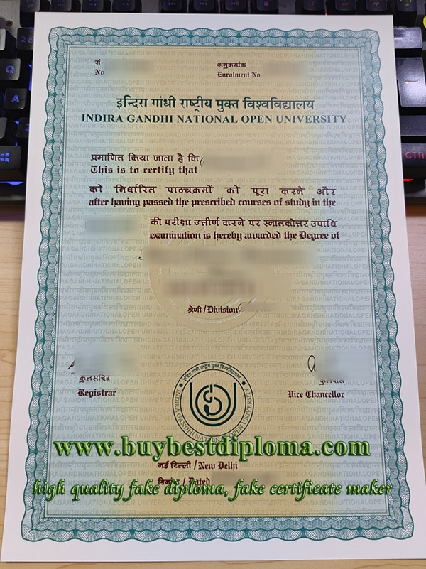 Indira Gandhi National Open University diploma, fake IGNOU diploma, Indira Gandhi National Open University certificate,