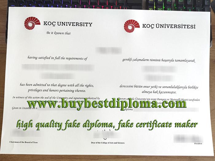 Koç University diploma, Koç University degree, Koç University certificate, fake Turkey diploma,