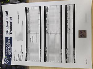 Liverpool John Moores University transcript, fake LJMU transcript, Liverpool John Moores University certificate,