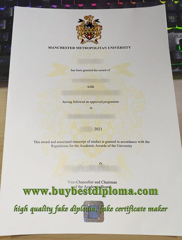 Manchester Metropolitan University diploma, Manchester Metropolitan University degree, Manchester Metropolitan University certificate,