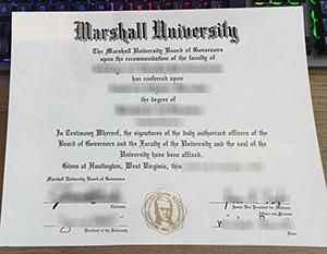 Marshall University degree, Marshall University diploma, Marshall University certificate,