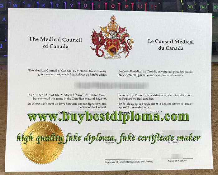Medical Council of Canada diploma, Medical Council of Canada degree, Licentiate of the Medical Council of Canada,