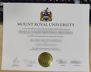 Mount Royal University degree, Mount Royal University diploma, Mount Royal University certificate,