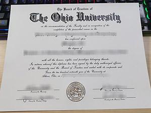 Ohio University diploma, Ohio University degree, fake Ohio University certificate,