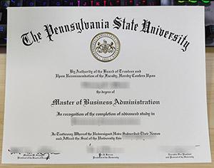 Pennsylvania State University diploma, fake PSU diploma, Pennsylvania State University certificate, fake MBA diploma,