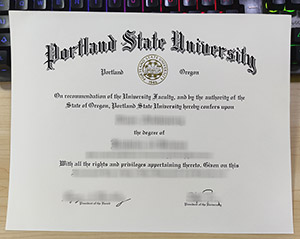 Portland State University diploma, Portland State University degree, fake PSU certificate,