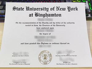 Binghamton University diploma, fake Binghamton University degree, SUNY at Binghamton diploma,