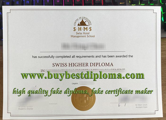 Swiss Hotel Management School diploma, Swiss Hotel Management School degree, SHMS diploma, hospitality management diploma,