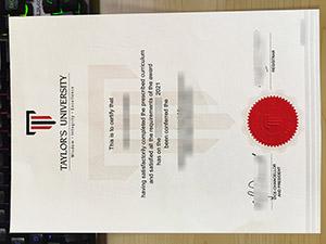Taylor's University diploma, Taylor's University degree, Taylor's University certificate, 泰勒大学毕业证,