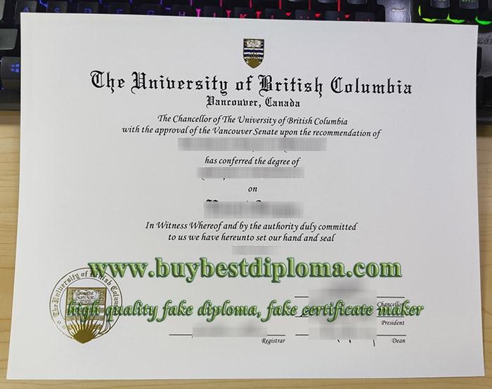 University of British Columbia diploma, University of British Columbia degree, fake UBC diploma,