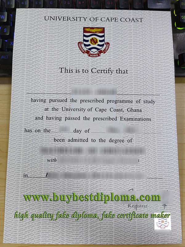 University of Cape Coast diploma, University of Cape Coast degree, fake UCC certificate,