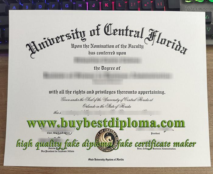 University of Central Florida diploma, fake UCF diploma, University of Central Florida degree, 中佛罗里达大学文凭,