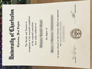 University of Charleston diploma, University of Charleston degree, fake University of Charleston certificate, 查尔斯顿大学文凭,