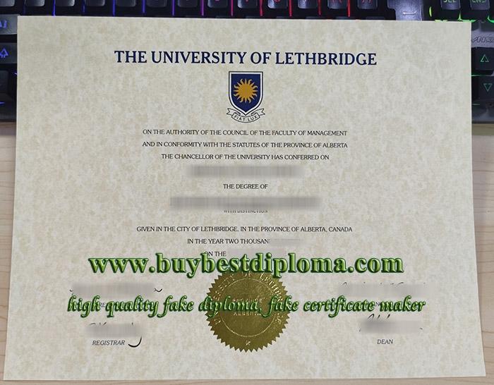 University of Lethbridge diploma, University of Lethbridge degree, fake University of Lethbridge certificate,