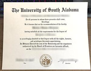 University of South Alabama diploma, University of South Alabama degree, University of South Alabama certificate,
