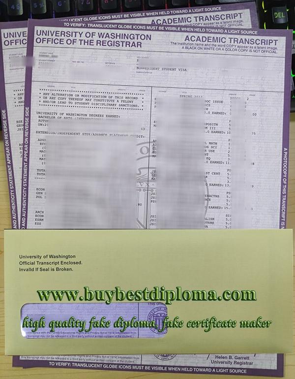 University of Washington transcript, get fake University of Washington certificate, fake university transcript,