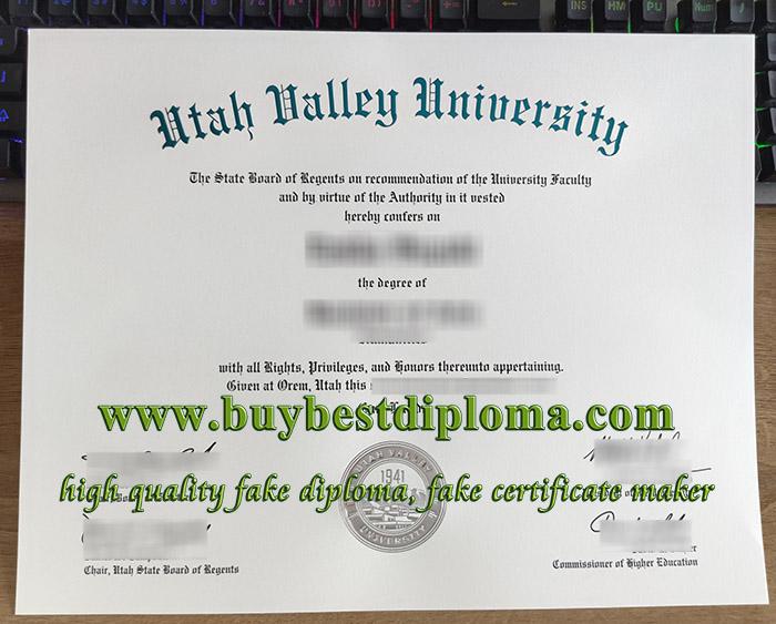 Utah Valley University degree, fake UVU diploma, fake Utah Valley University certificate,