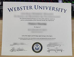 Webster University diploma, Webster University degree, Webster University certificate,