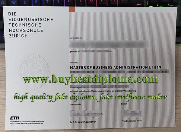 ETH Zürich diploma, ETH Zürich degree certificate, fake MBA degree,